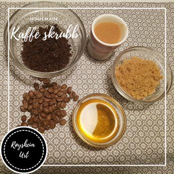 Ingredienser til kaffe skrubb