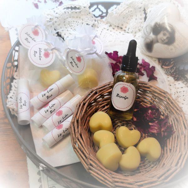 Rosepakke olje lotionbar og lipbalm