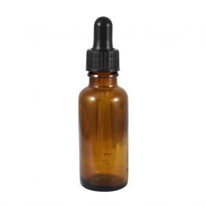 Glassflaske brun med pipette 30ml